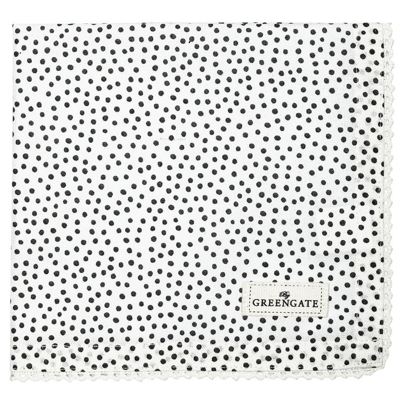 a12582x.jpg - Servett Dot, Black - Elsashem Butiken med det lilla extra...