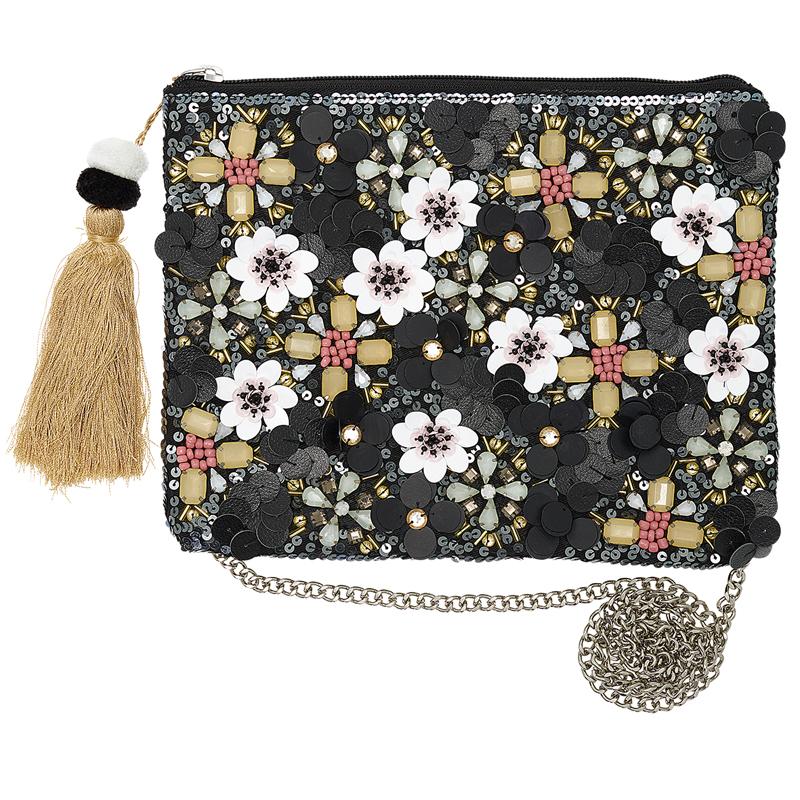 a12645x.jpg - Hand bag Floral, Black - Elsashem Butiken med det lilla extra...