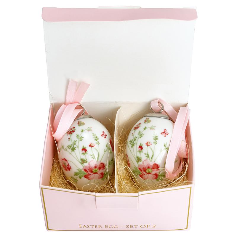 a12737x.jpg - Decorative egg Meadow, White set of 2 - Elsashem Butiken med det lilla extra...
