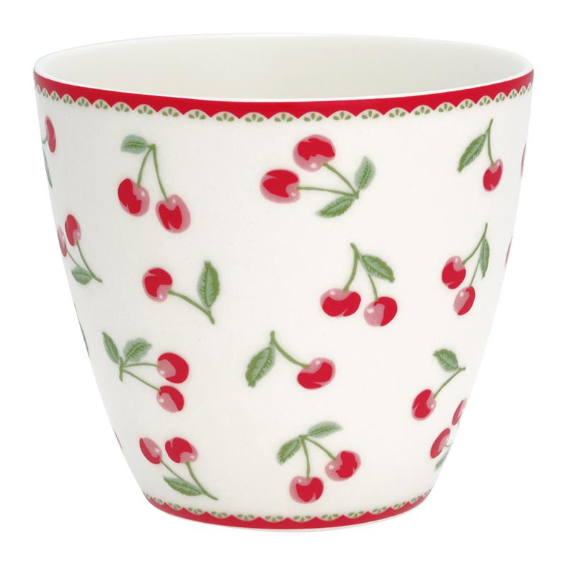 a12758x.jpg - Lattemugg Cherry, White - Elsashem Butiken med det lilla extra...