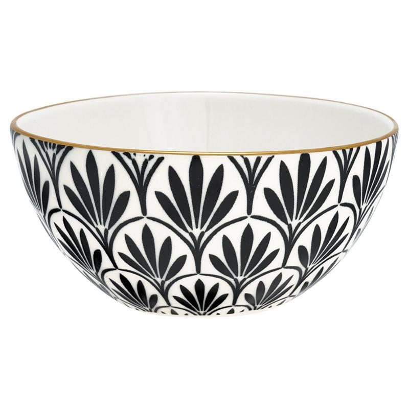 a12817x.jpg - Skål Victoria, Black w/gold Medium - Elsashem Butiken med det lilla extra...