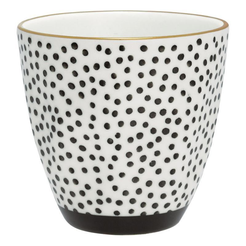 a12819x.jpg - Lattemugg Dot, Black w/gold - Elsashem Butiken med det lilla extra...