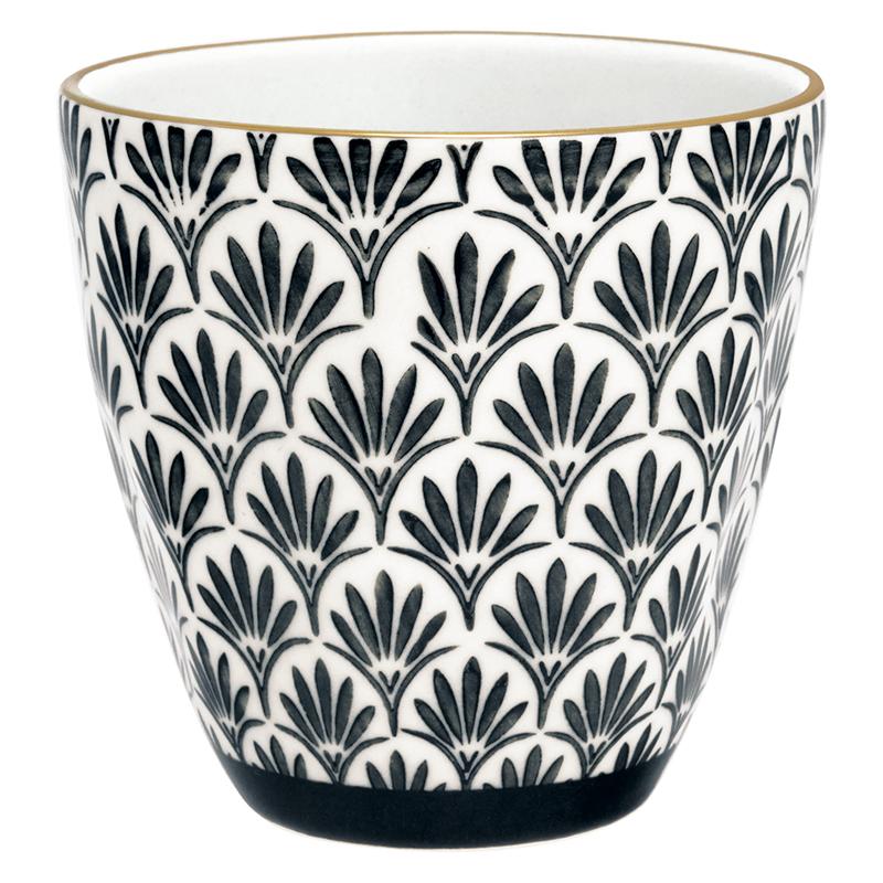 a12821x.jpg - Lattemugg Victoria, Black w/gold - Elsashem Butiken med det lilla extra...
