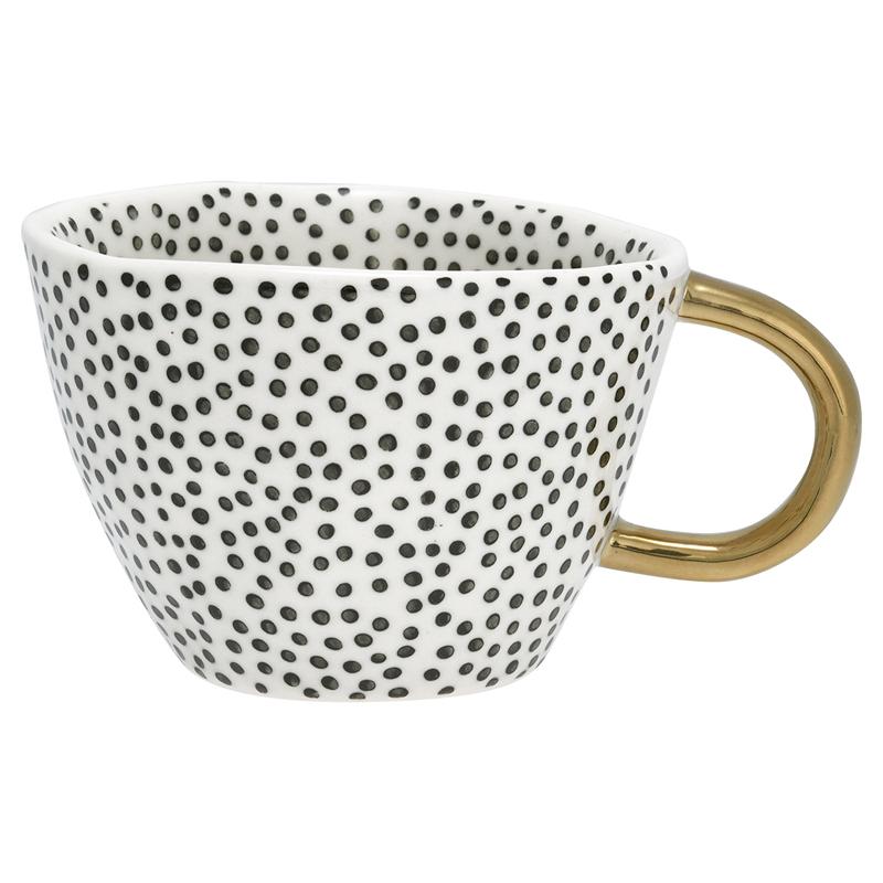 a12823x.jpg - Mugg Dot, Black w/gold - Elsashem Butiken med det lilla extra...