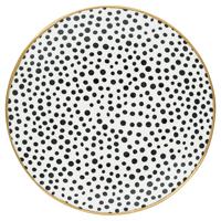 Senaste nytt Assiette Dot, Black w/gold