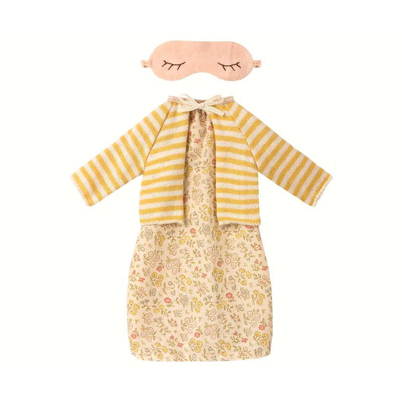 a12898x.jpg - Best friends, Nattlinne med cardigan set - gul - Elsashem Butiken med det lilla extra...
