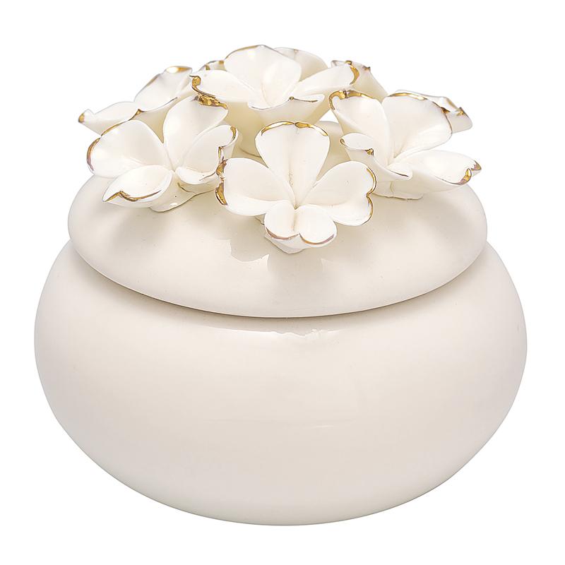 a12924x.jpg - Jewelry box Flower, White w/gold small - Elsashem Butiken med det lilla extra...