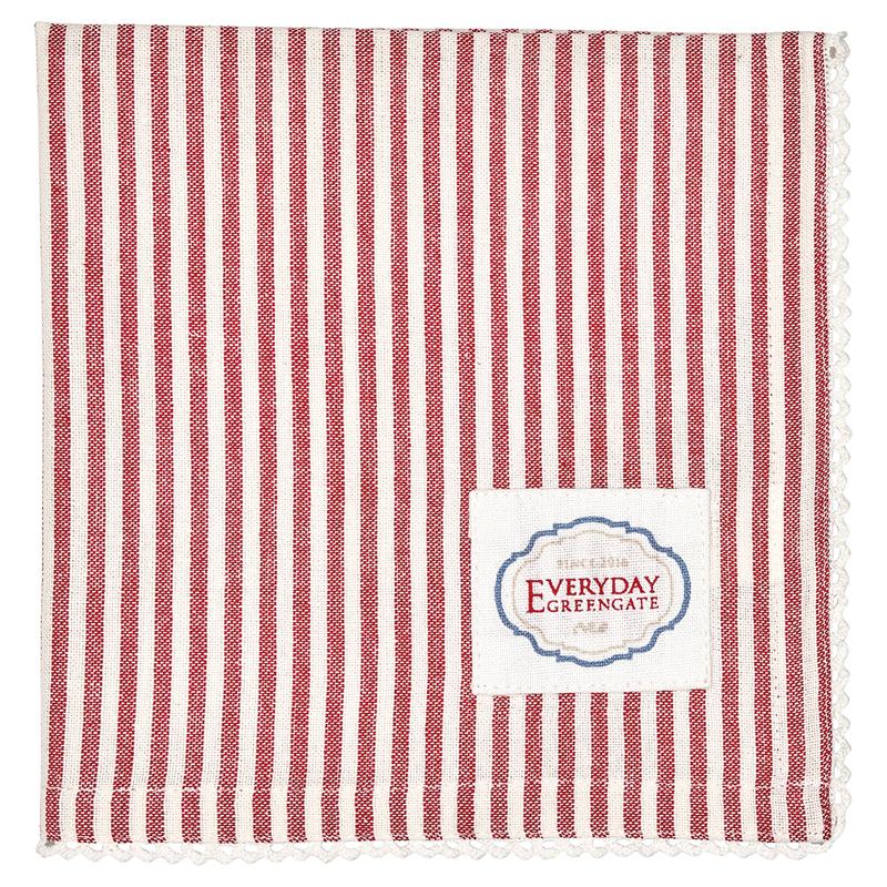 a12960x.jpg - Servett Alice Stripe, Red - Elsashem Butiken med det lilla extra...