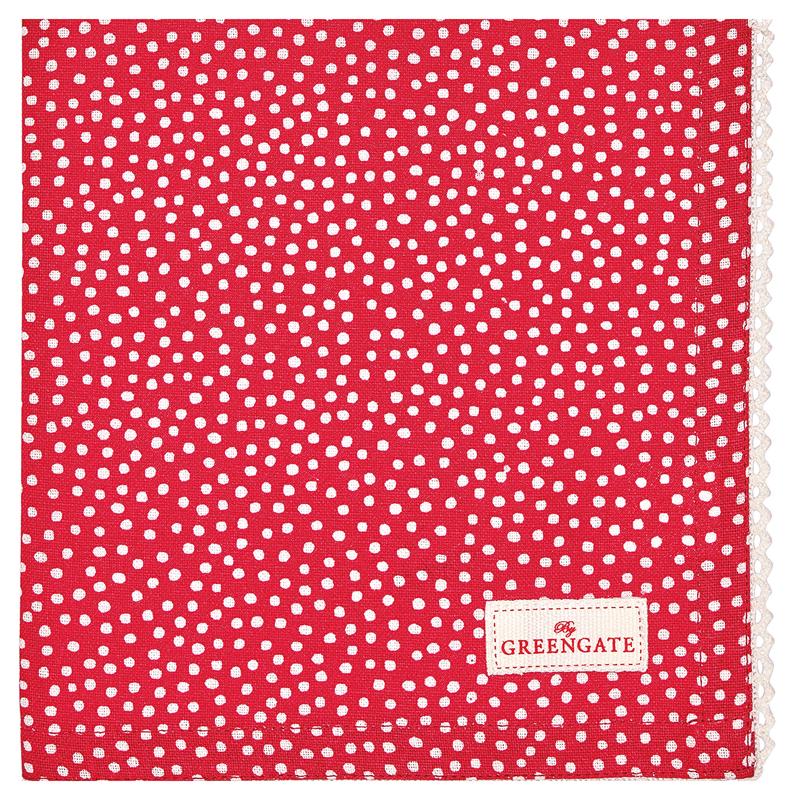 a12969x.jpg - Servett Dot, Red - Elsashem Butiken med det lilla extra...