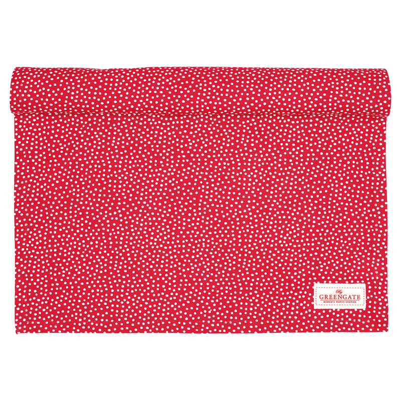 a12999x.jpg - Table runner Dot, Red - Elsashem Butiken med det lilla extra...