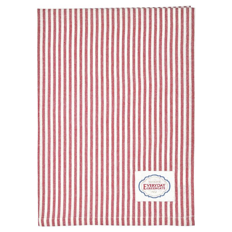 a13002x.jpg - Kökshandduk Alice stripe, Red - Elsashem Butiken med det lilla extra...