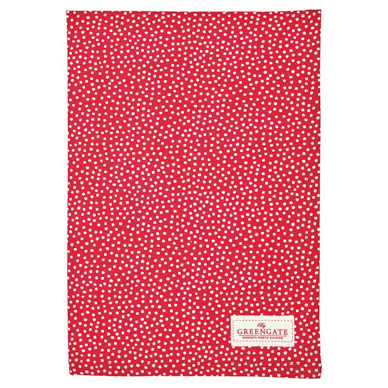 a13010x.jpg - Kökshandduk Dot, Red - Elsashem Butiken med det lilla extra...