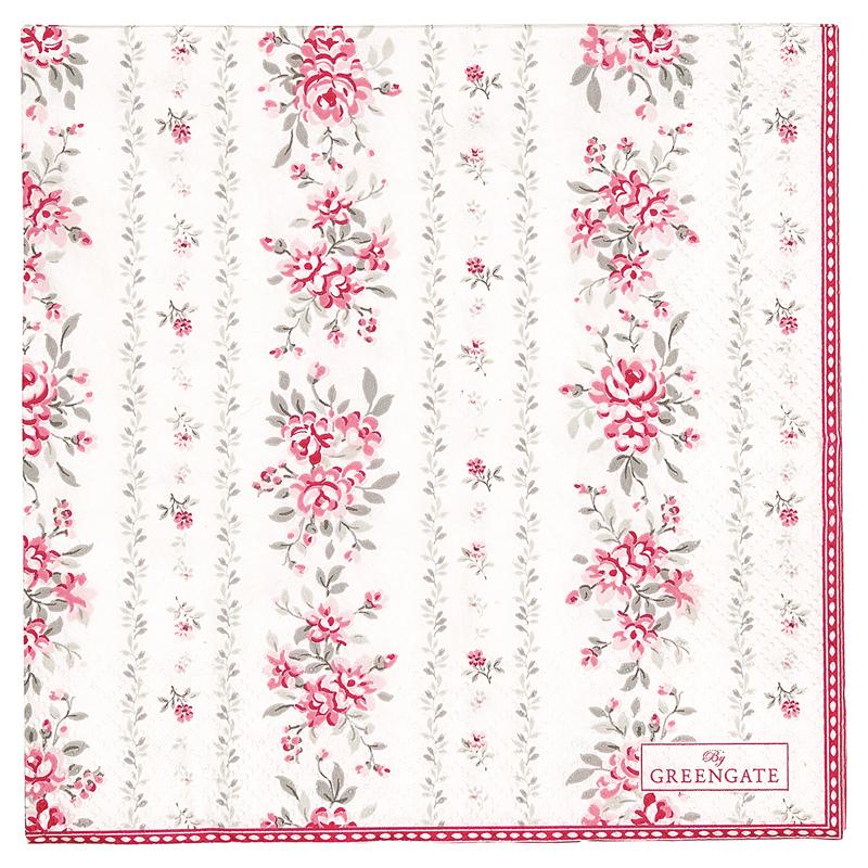 a13027x.jpg - Servetter Flora, Vintage - Elsashem Butiken med det lilla extra...