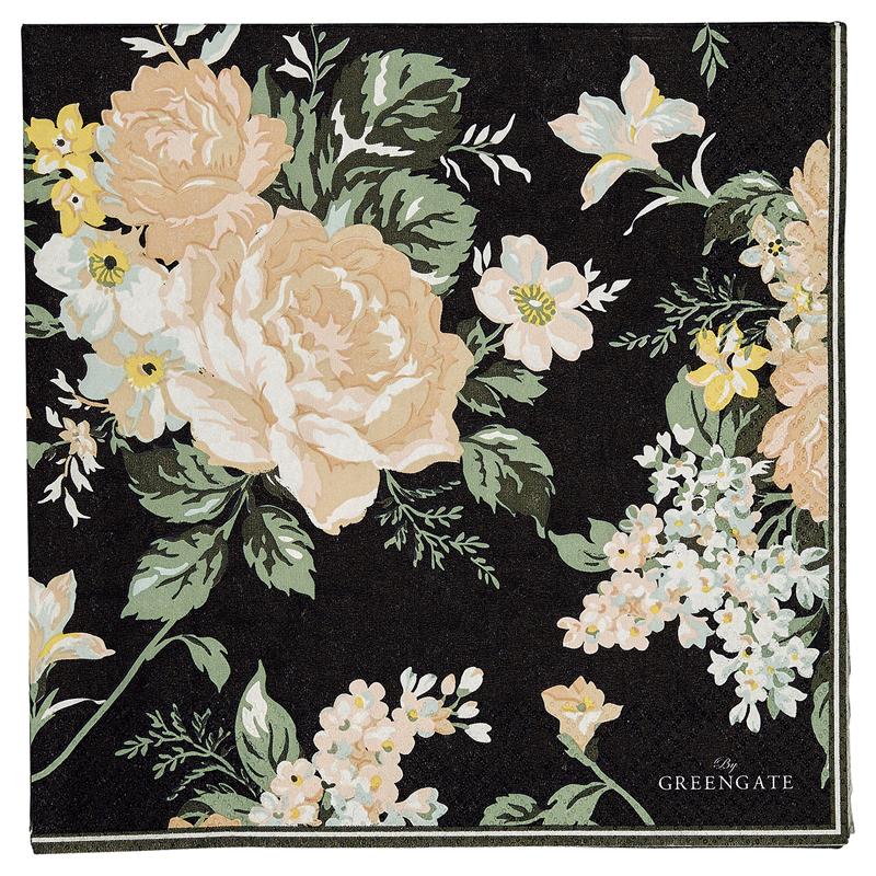 a13029x.jpg - Servetter Josephine, Black - Elsashem Butiken med det lilla extra...