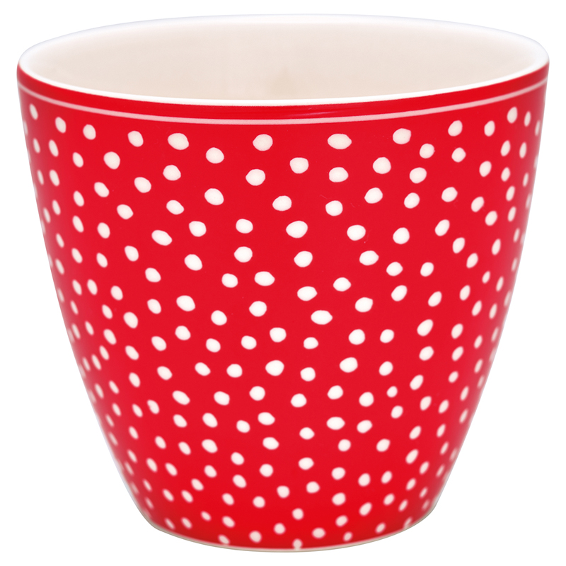 a13097x.jpg - Lattemugg Dot, Red - Elsashem Butiken med det lilla extra...