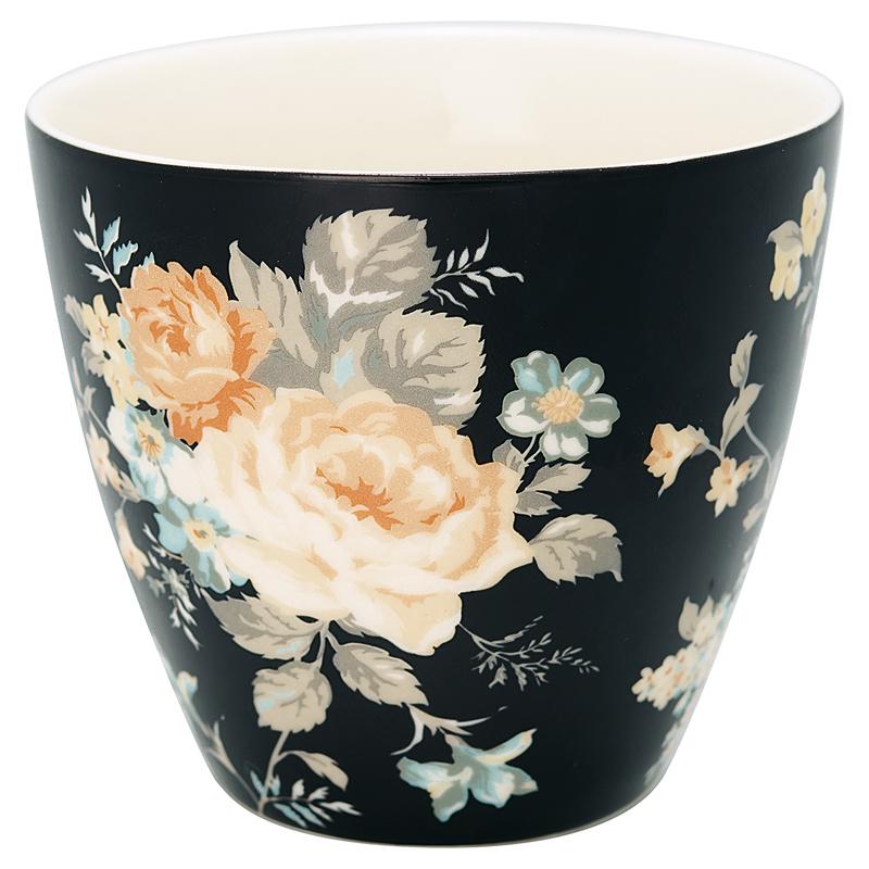 a13101x.jpg - Lattemugg Josephine, Black - Elsashem Butiken med det lilla extra...
