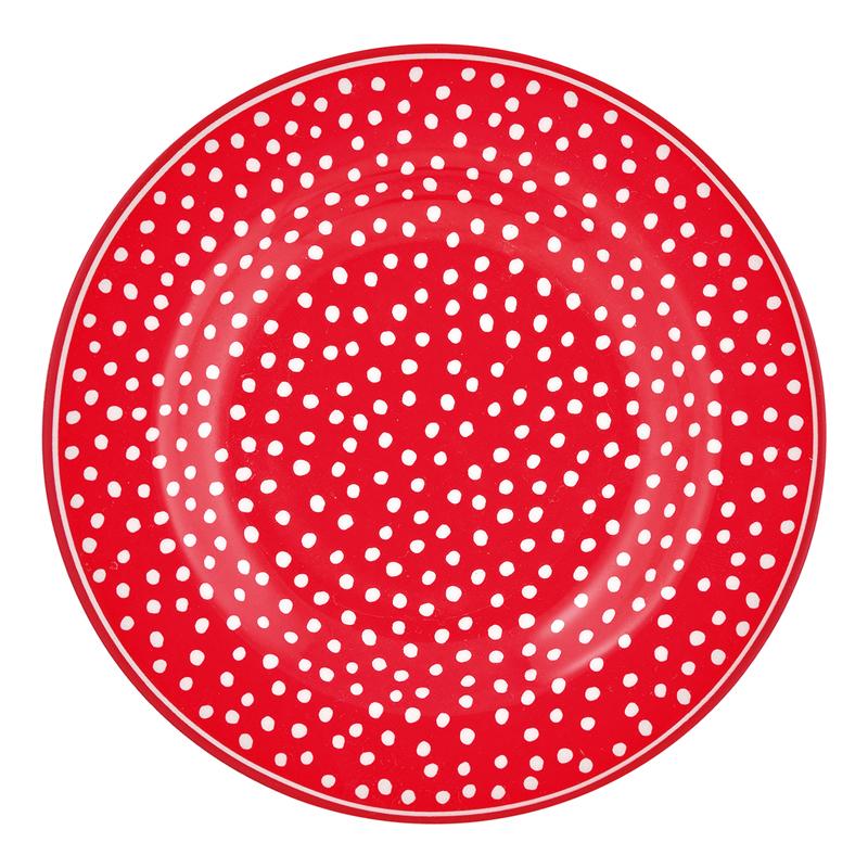 a13126x.jpg - Liten assiette Dot, Red - Elsashem Butiken med det lilla extra...