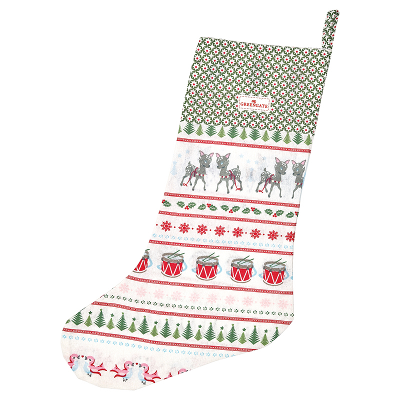 a13187x.jpg - Stocking Bambi, White - Elsashem Butiken med det lilla extra...