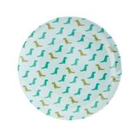 Senaste nytt Melamine kids lunch plate with Dino print
