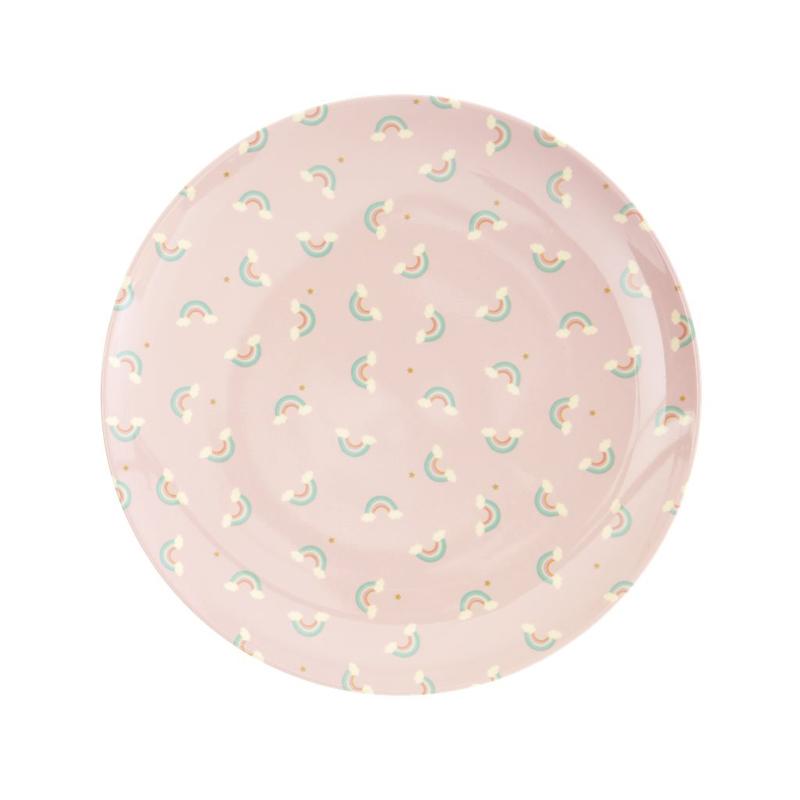 a13204x.jpg - Melamine kids lunch plate with Rainbow print - Elsashem Butiken med det lilla extra...