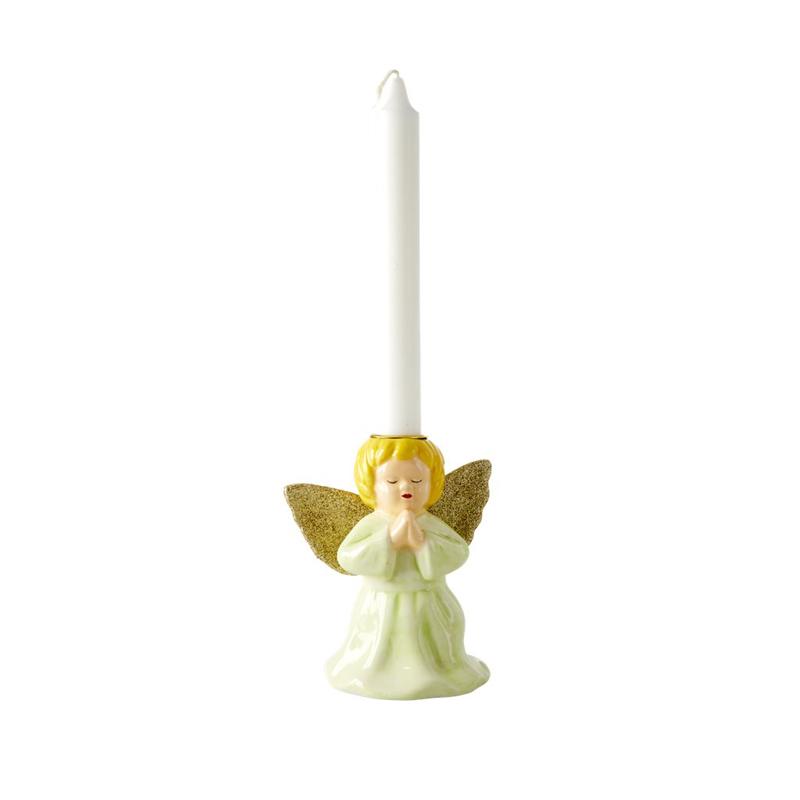 a13213-2x.jpg - Ceramic candle holder in angel shape, Ljusgrön - Elsashem Butiken med det lilla extra...
