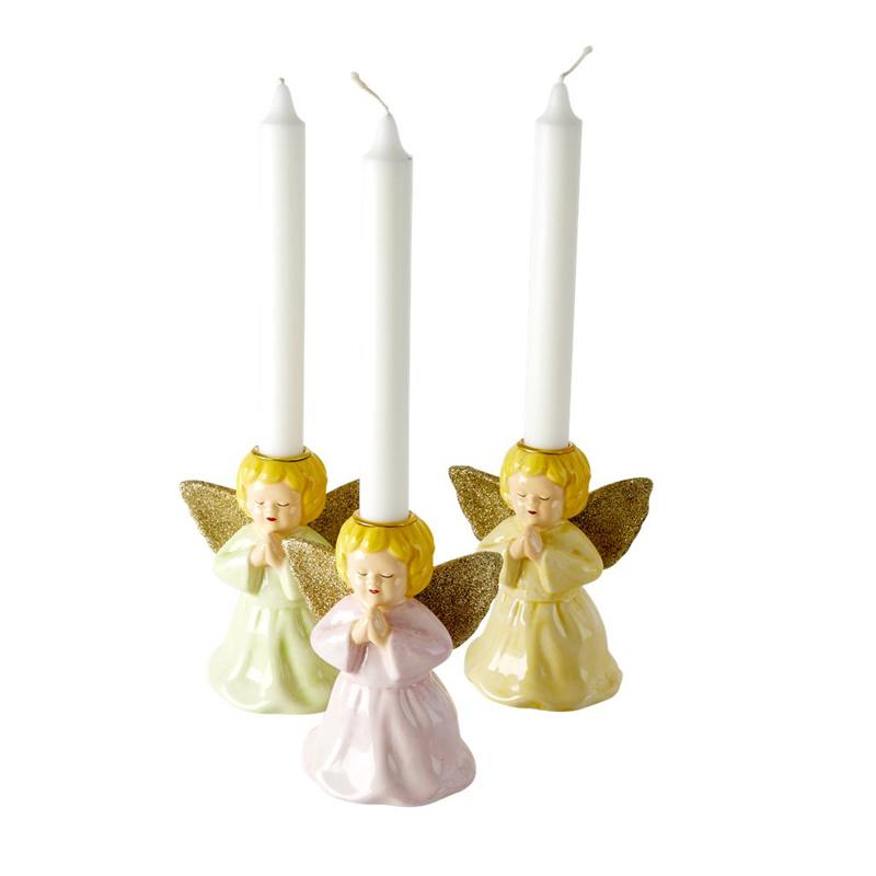 a13213-3x.jpg - Ceramic candle holder in angel shape, Ljusgrön - Elsashem Butiken med det lilla extra...