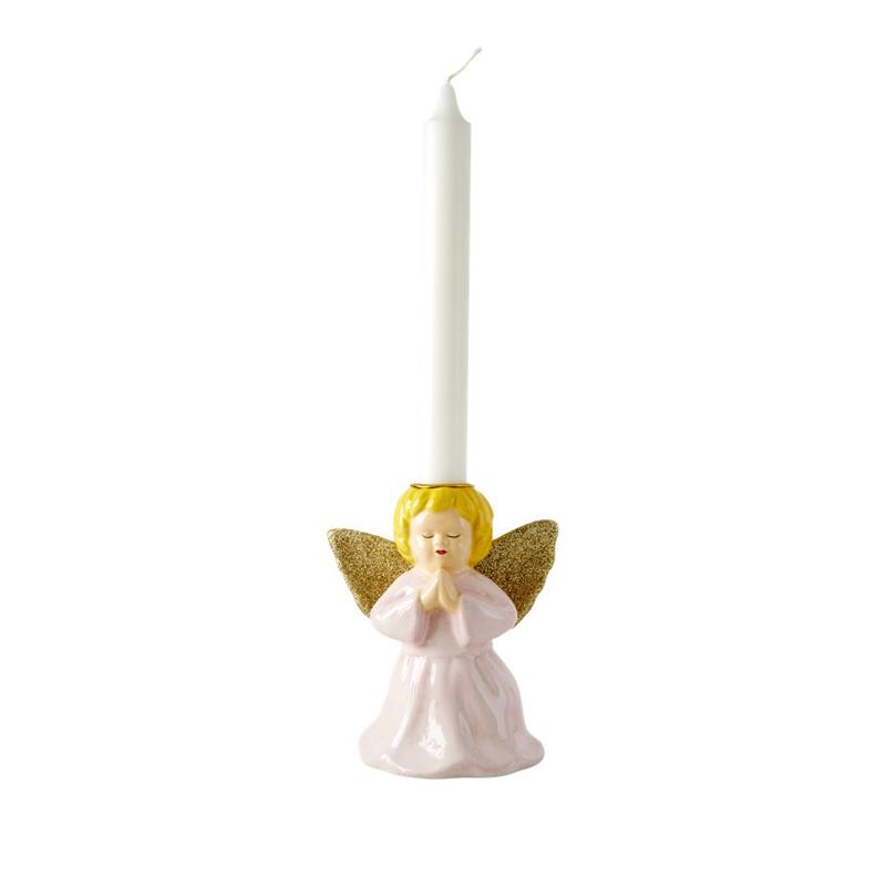 a13214-2x.jpg - Ceramic candle holder in angel shape, Ljusrosa - Elsashem Butiken med det lilla extra...