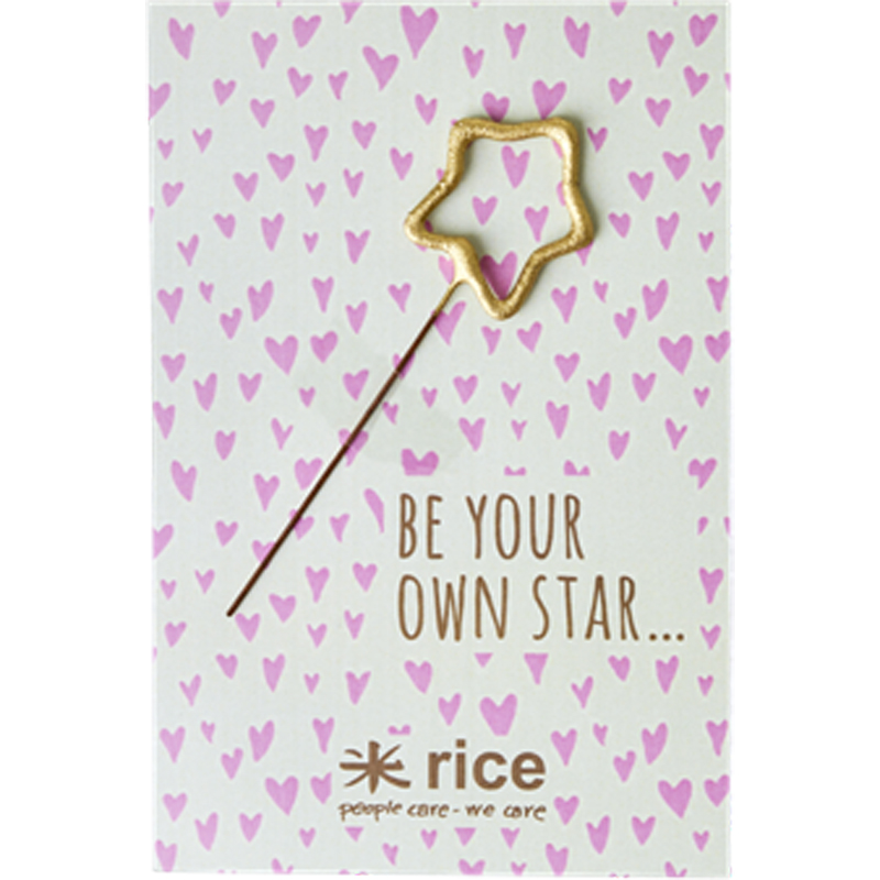 a13219x.jpg - Sparkler to and from card, Star shaped gold - Elsashem Butiken med det lilla extra...