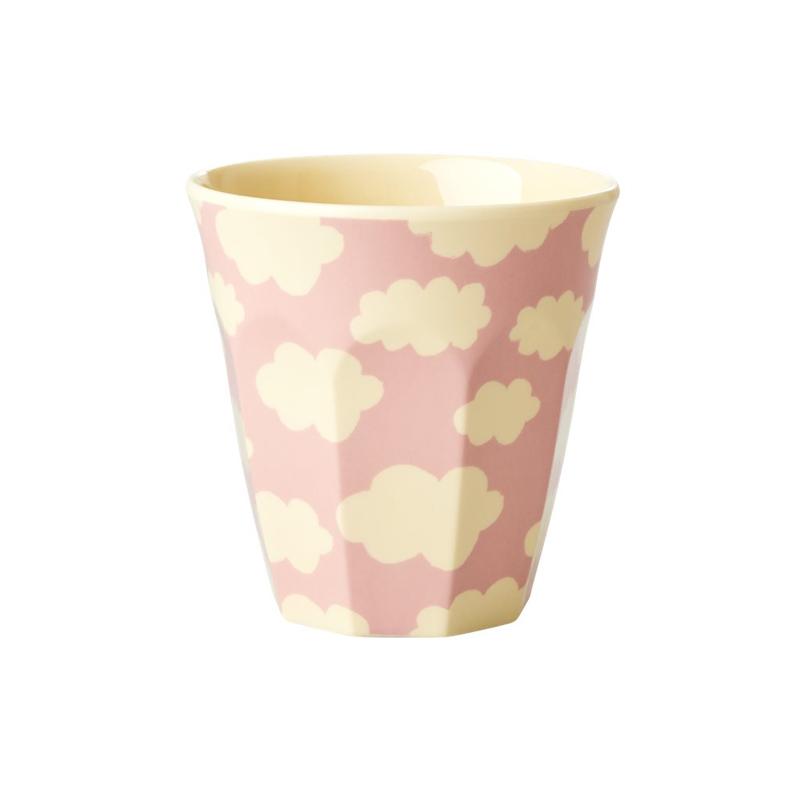 a13226x.jpg - Melamine kids cup with Cloud print, Pink Small - Elsashem Butiken med det lilla extra...