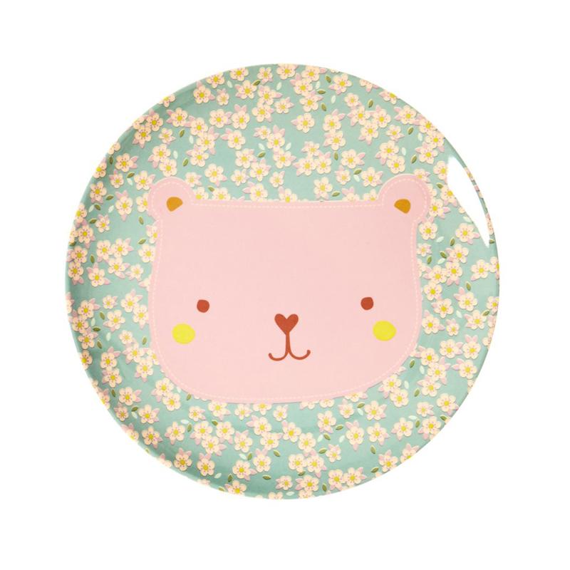 a13227x.jpg - Melamine kids lunch plate with Animal print - Elsashem Butiken med det lilla extra...