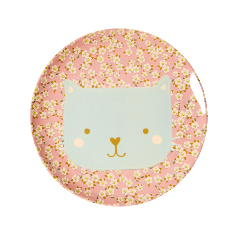 a13229x.jpg - Melamine kids lunch plate with Animal print - Elsashem Butiken med det lilla extra...
