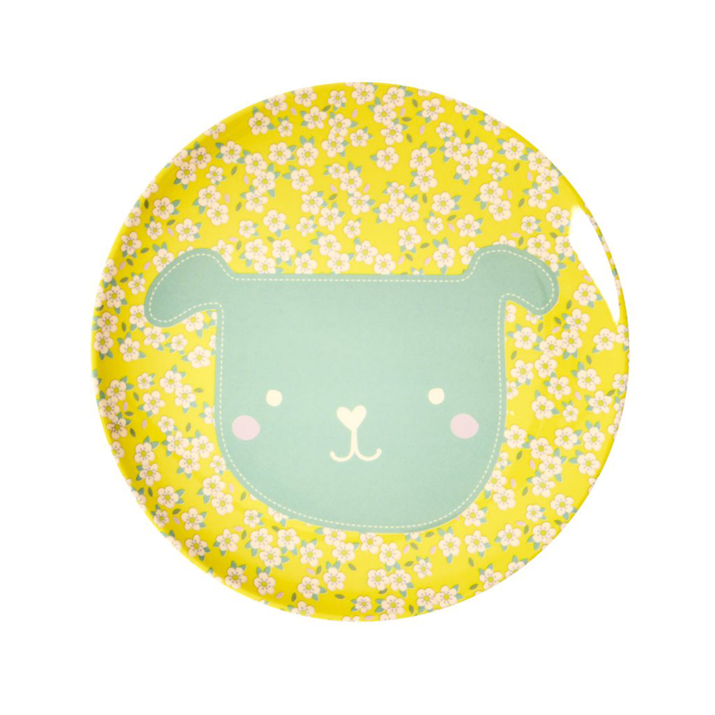 a13230x.jpg - Melamine kids lunch plate with Animal print - Elsashem Butiken med det lilla extra...