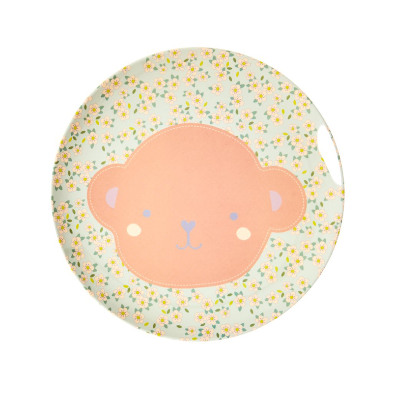 a13231x.jpg - Melamine kids lunch plate with Animal print - Elsashem Butiken med det lilla extra...