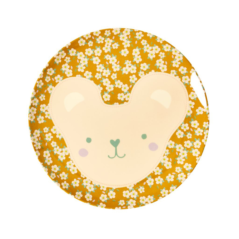 a13232x.jpg - Melamine kids lunch plate with Animal print - Elsashem Butiken med det lilla extra...