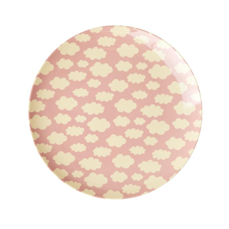 a13233x.jpg - Melamine kids lunch plate with Cloud print, Pink - Elsashem Butiken med det lilla extra...
