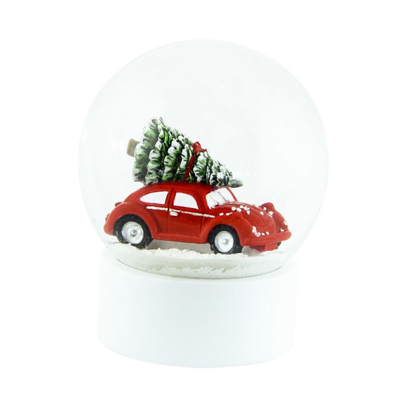 a13281x.jpg - Snöglob Röd bil, Stor - Elsashem Butiken med det lilla extra...