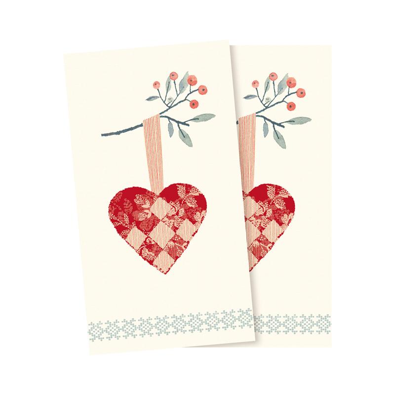 a13314x.jpg - Servetter, Christmas Heart - Elsashem Butiken med det lilla extra...