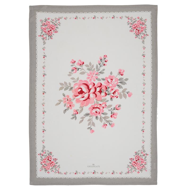 a13318x.jpg - Kökshandduk Flora, Vintage pieceprinted - Elsashem Butiken med det lilla extra...