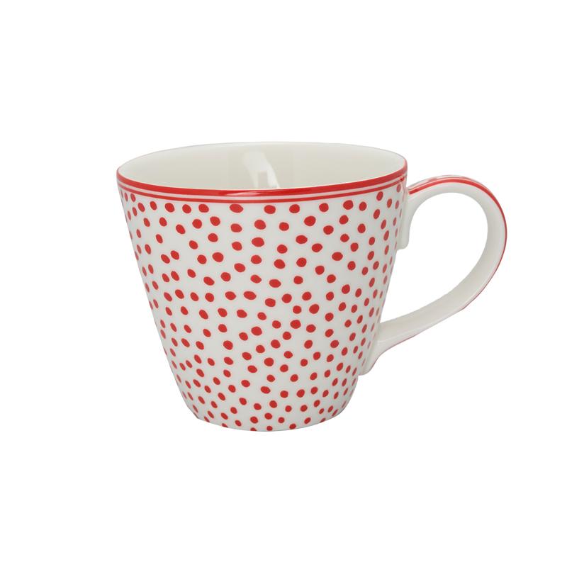a13321x.jpg - Mugg Dot, White - Elsashem Butiken med det lilla extra...