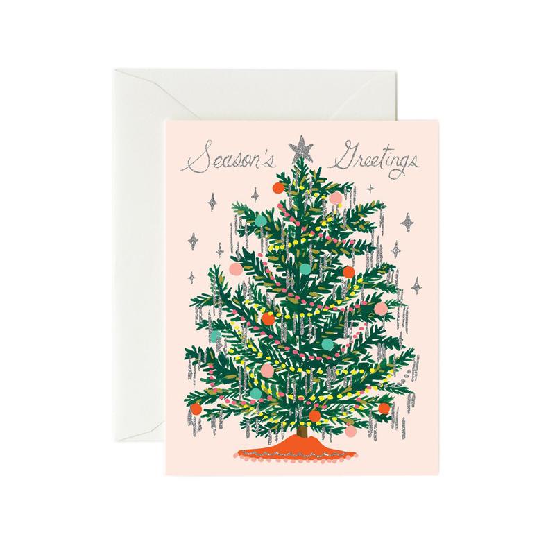 a13327x.jpg - Kort med kuvert, Tinsel Tree - Elsashem Butiken med det lilla extra...