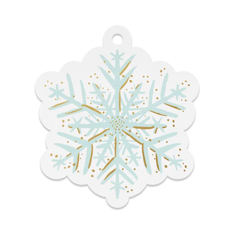 a13329x.jpg - Set med 8 st gift tags, Snowflake Die-Cut - Elsashem Butiken med det lilla extra...