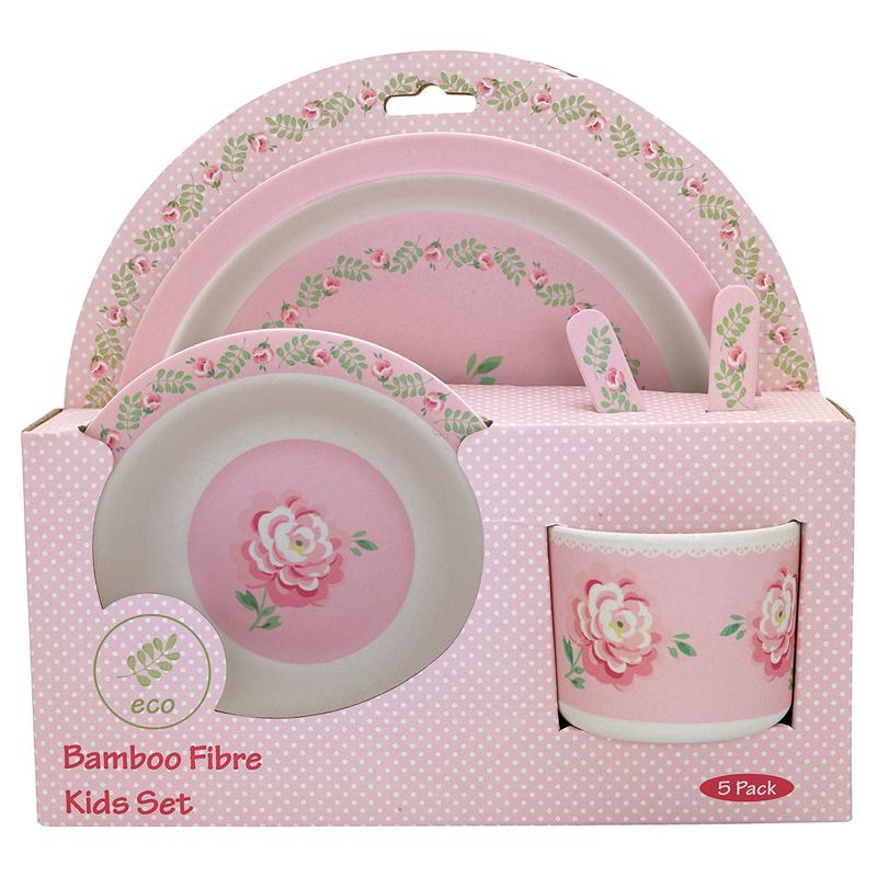 a13340x.jpg - Kids dinner set of 4 pcs Lily, Petit white - Elsashem Butiken med det lilla extra...
