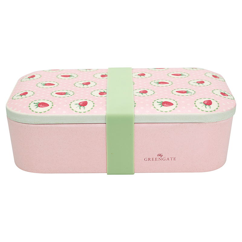 a13343x.jpg - Lunch box Strawberry, Pale pink - Elsashem Butiken med det lilla extra...