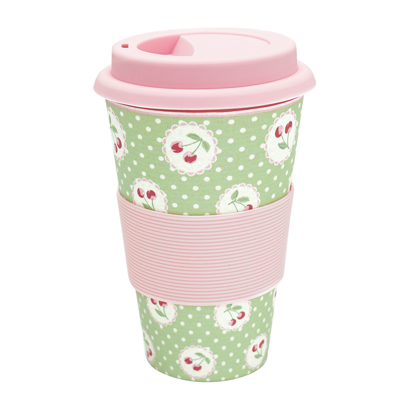 a13348x.jpg - Travel mug Cherry berry, Pale green - Elsashem Butiken med det lilla extra...