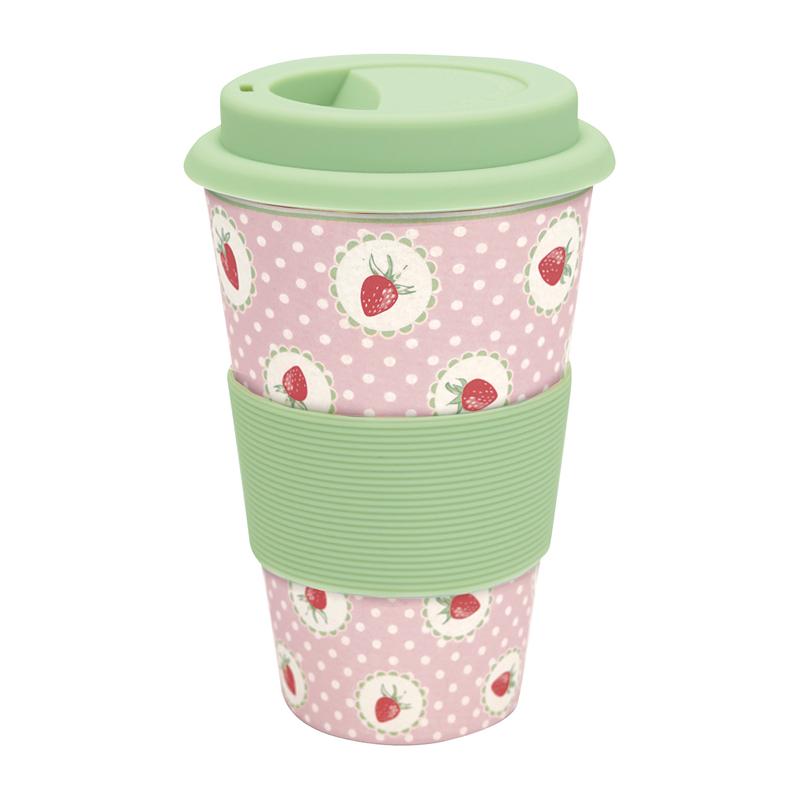 a13350x.jpg - Travel mug Strawberry, Pale pink - Elsashem Butiken med det lilla extra...