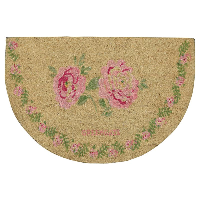 a13357x.jpg - Doormat Lily, petit white half round - Elsashem Butiken med det lilla extra...