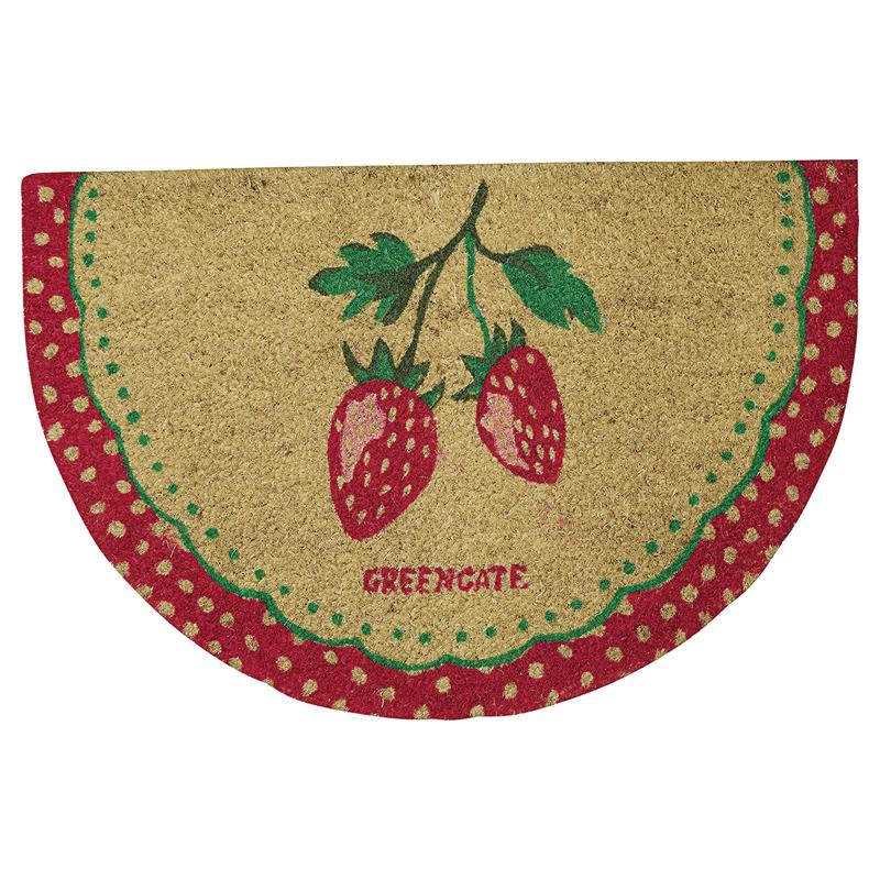 a13358x.jpg - Doormat Strawberry, Red half round - Elsashem Butiken med det lilla extra...