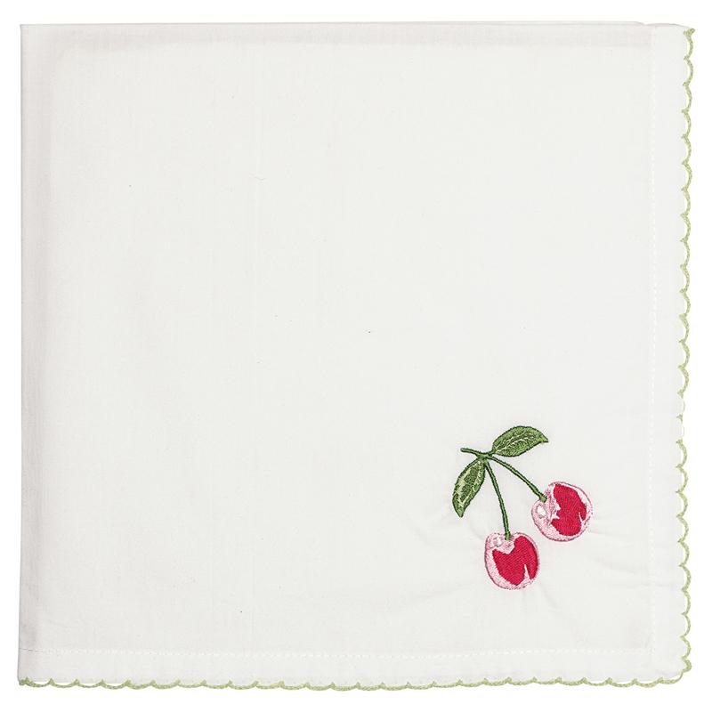 a13363x.jpg - Servett Cherry, Red w/embroidery - Elsashem Butiken med det lilla extra...