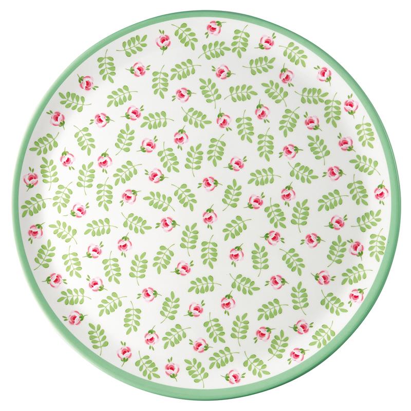 a13378x.jpg - Dinner plate Lily, Petit white - Elsashem Butiken med det lilla extra...