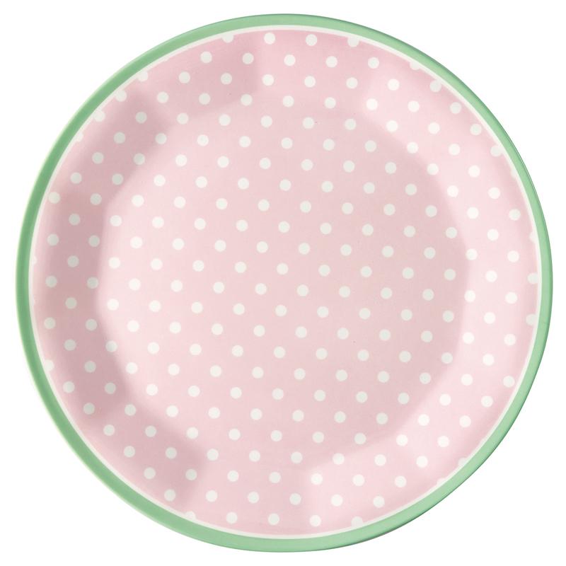 a13383x.jpg - Plate Spot, Pale pink - Elsashem Butiken med det lilla extra...